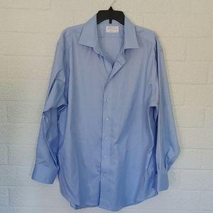 Lorenzo Uomo Perfect Blue Shirt 18 34/35 Reg Fit